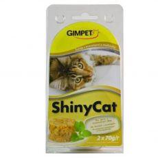GimCat ShinyCat tuňák + krevety + slad 2 x 70 g
