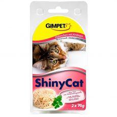 GimCat ShinyCat kuře + krab 2 x 70 g