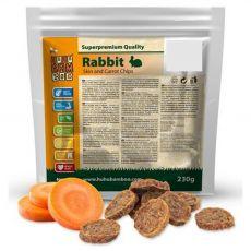 HUHU Bamboo chipsy z králičí kůže s mrkví 230 g