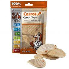 HUHU Bamboo chipsy s mrkví 75 g