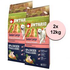 ONTARIO Senior Large – chicken & potatoes 2 x 12kg
