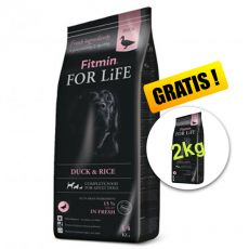 Fitmin dog For Life Duck & Rice 14 + 2 kg GRATIS