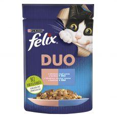 Kapsička Felix Fantastic Duo s lahodnou chutí lososa a sardinek v želé 85 g