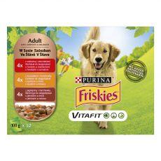 FRISKIES VITAFIT výběr s hovězím, kuřetem a jehněčím ve šťávě 12 x 100 g
