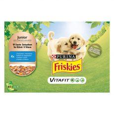 FRISKIES Junior VitaFit kapsička pro štěňata s kuřetem a mrkví ve šťávě 4 x 100 g