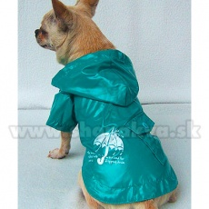 Pláštěnka pro pejska - tyrkysově zelená, deštník, S