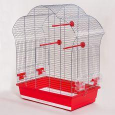 Klec pro papoušky - LAURA III chrom - 60,5 x 34 x 71,5 cm