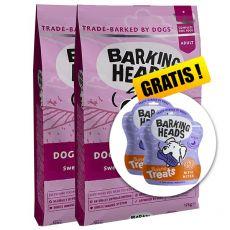 BARKING HEADS Doggylicious Duck GF ADULT 2 x 12 kg + DÁREK