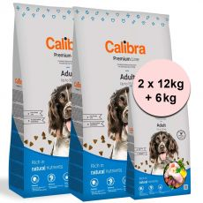 Calibra Dog Premium Line Adult 2 x 12 kg + 6 kg NEW