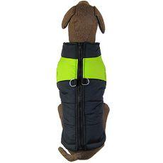 Větrovka pro velkého psa černo-zelená L-XL
