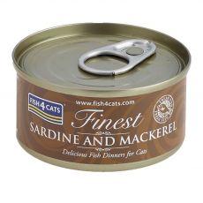 Fish4cats Finest Sardine & Mackerel 70 g