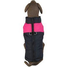 Větrovka pro velkého psa černo-růžová L-XL
