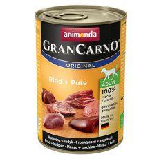 Animonda GranCarno Adult Plus hovězí + krůta – konzerva 400 g