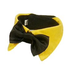 Motýlek pro psa - černý se žlutým límcem, XL