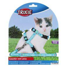 Postroj s vodítkem pro kotě Kitty Cat, modrý