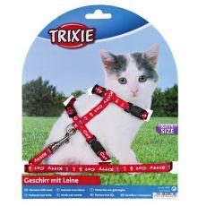 Postroj s vodítkem pro kotě Kitty Cat, červený