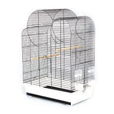 Klec pro papoušky ELIZA - černá - 54 x 34 x 75 cm