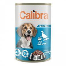 Konzerva Calibra Dog Adult kachna a rýže 1240 g