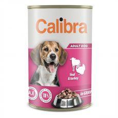 Konzerva Calibra Dog Adult tele a krůta 1240 g