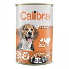 Konzerva Calibra Dog Adult krůta a kuře 1240 g