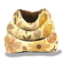 Pelech pro psa, podzimní květinový vzor - L