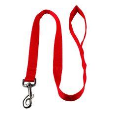 Nylonové vodítko pro psa - červené, 100 cm, šířka 15 mm