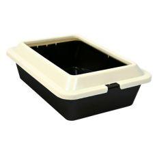 Toaleta pro kočky - hnědobéžová, 50 × 38 × 14 cm