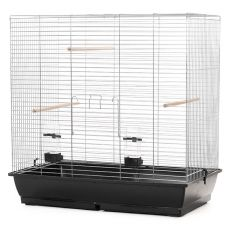 Klec pro velké papoušky GONZO chrom - 78 x 47,5 x 79 cm