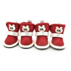 Boty pro psy, síťované červené barvy - vel. 2
