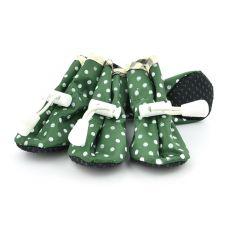 Boty pro psy, zelené puntíkované - vel. 3