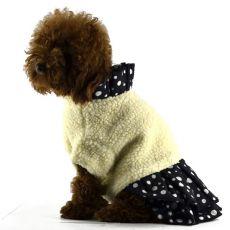 Bunda se sukní pro psy - černobílá, XL
