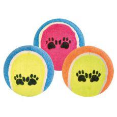 Tenisový míček pro psy - barevný, 6 cm