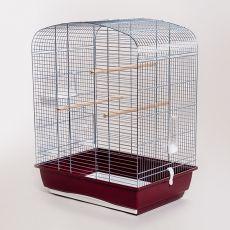 Klec pro papoušky ELENA CHROM, 53 x 39 x 71 cm