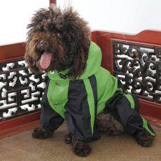 Overal pro psa - nepromokavý, zeleno-černý, S