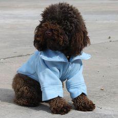 Mikina pro psa se zipem - modrá, M