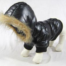 Větrovka pro psa - černá s kapucí, XS