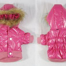 Větrovka pro psa - růžová s kapucí, XS