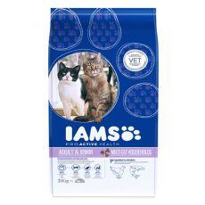 IAMS Multi - Cat s kuřecím a lososím masem 3 kg