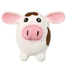 Hračka pro psa - latexová kráva, 9 x 11 cm