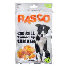 Pamlsky RASCO - rolka z tresky obalená kuřecím masem, 80 g