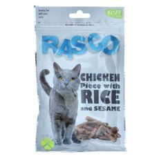 Pamlsky RASCO - kuřecí maso s rýží a sezamem, 80 g