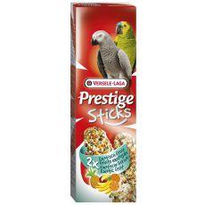 Tyčinky pro papoušky PRESTIGE STICKS 2 ks - exotické ovoce, 140g