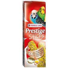 Tyčinky pro andulky PRESTIGE STICKS 2 ks - ústřice a vejce, 60g