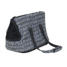 Taška pro psa a kočky Yasmin, šedá s potiskem - 25×30×45 cm