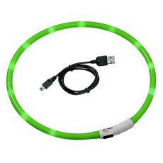 LED obojek pro psy DOG FANTASY - zelený, 70 cm
