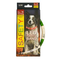 LED obojek pro psy DOG FANTASY - zelený, 45 cm