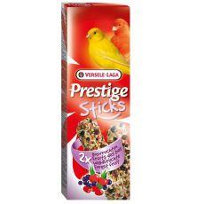 Tyčinky pro kanárky Prestige Sticks 2 ks - lesní plody, 60g