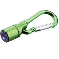 Blikač na obojek pro psa a kočku - zelený, na baterky, 1 cm