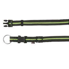 Nylonový obojek pro psy - zelenočerný, L-XL