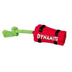 Hračka pro psy z latexu - dynamit s lanem, 22 cm